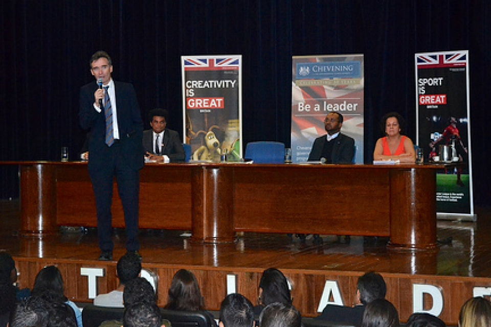 British Ambassador Alex Ellis speaks at UCB