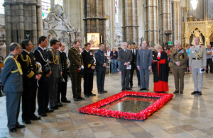 General Fuente-Alba at Westminster Abbey.