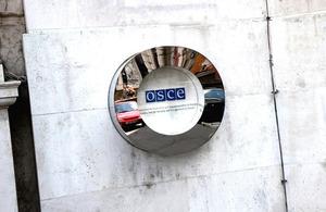 OSCE sign