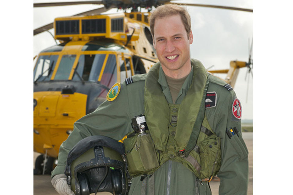 Flight Lieutenant William Wales at RAF Valley after qualifying as a Search and Rescue Operational Captain