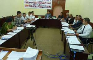 Opening sessions of a workshop with local lawyers in Khorog