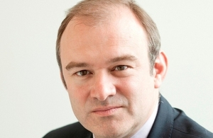 The UK's Secretary of State for Energy and Climate Change, Edward Davey