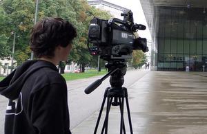 Film crew on location