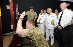 S300 libyan navy visits royal naval training bases