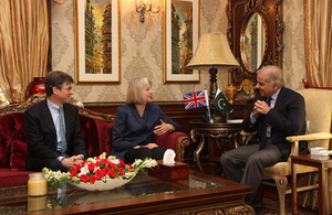 The British Home Secretary, Theresa May, met the Chief Minister of Punjab, Mian Muhammad Shahbaz Sharif