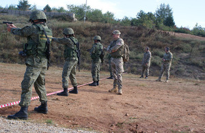 A British military team trains 30 Kosovo Security Force personnel