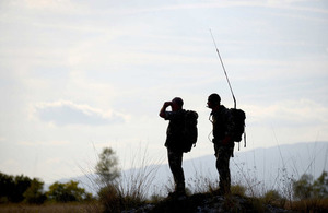 British Army reservists training in Italy [Picture: Corporal Andy Reddy, Crown copyright]