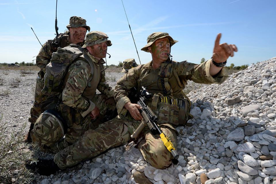 British Army reservists training in Italy
