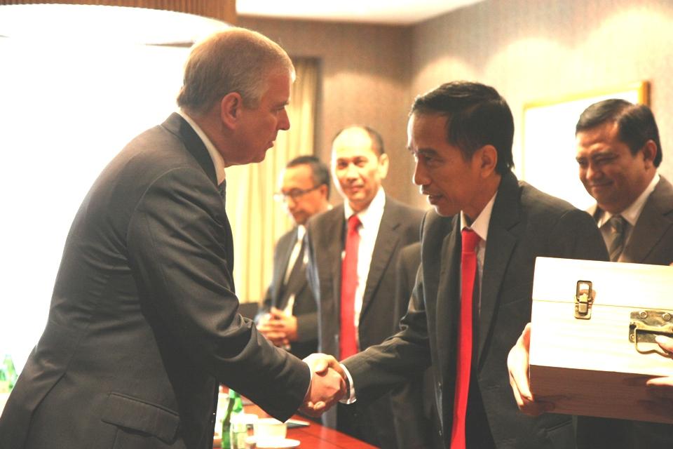 HRH Prince Andrew with Jakarta Governor Joko Widodo