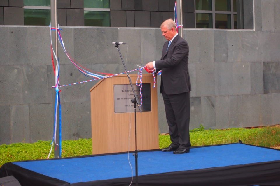 HRH Prince Andrew attended the opening ceremony of the new British Embassy Jakarta