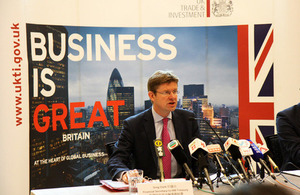 Financial Secretary to Treasury Greg Clark hosted a press conference in HK