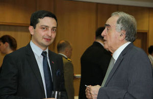 Commercial Officer Data Parulava and former Georgian Ambassador to UK Gela Charkviani