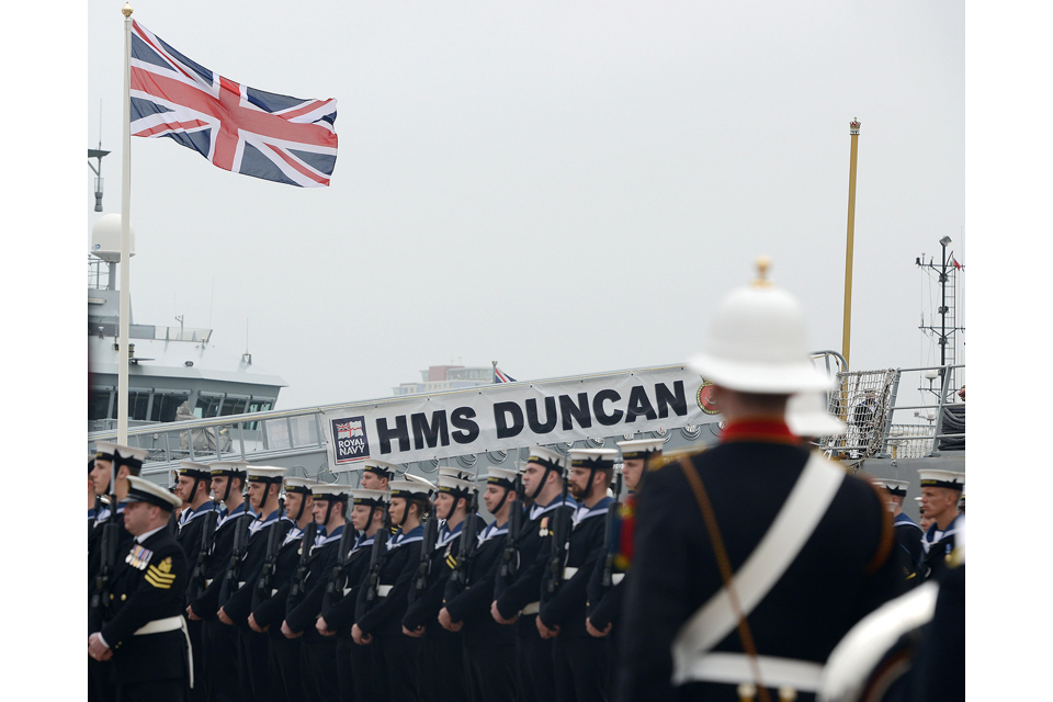 HMS Duncan's commissioning ceremony