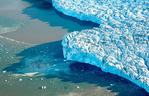 View of polar ice in Norway. Photo by UN Photo/Mark Garten.