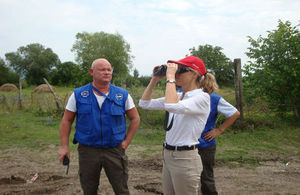 HM Ambassador Alexandra Hall Hall during a patrol with EUMM in Gori