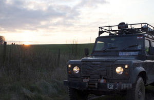 A 4x4 vehicle on Salisbury Plain (stock image) [Picture: Neil White]