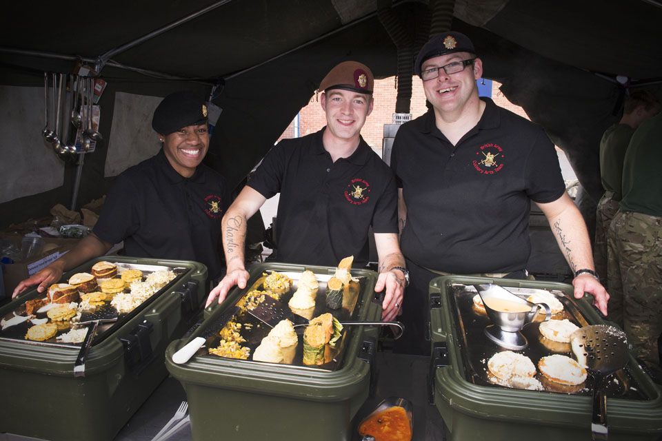 Army chefs taking part in the Open Field Challenge