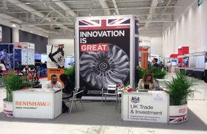 El stand del Reino Unido en la Cumbre Aerospacial