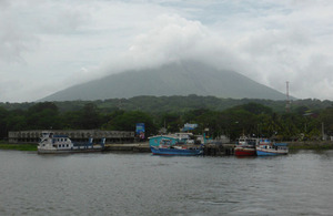 Approaching the shore of Ometepe