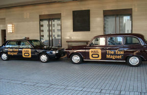 London and Osaka Hailo taxis at the launch event in Osaka