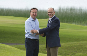 PM David Cameron with Enrico Letta
