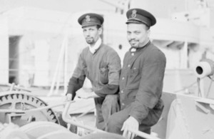 Two men of the Royal Indian Navy, Abbas Tajuddin and Yusuf Ali, October 1943 (library image) [Picture: courtesy of Imperial War Museum]