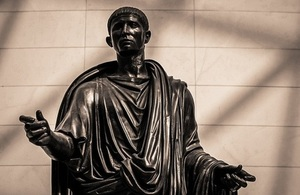 Bronze statue of Lucius Mammius Maximus (a wealthy benefactor of the city) was found in the theatre of Herculaneum in the early 1730s.