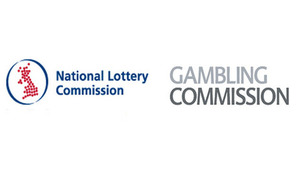 National Lottery Commission and Gambling Commission logos