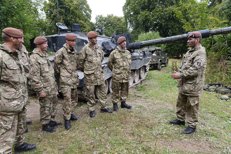 Troops being briefed before an exercise