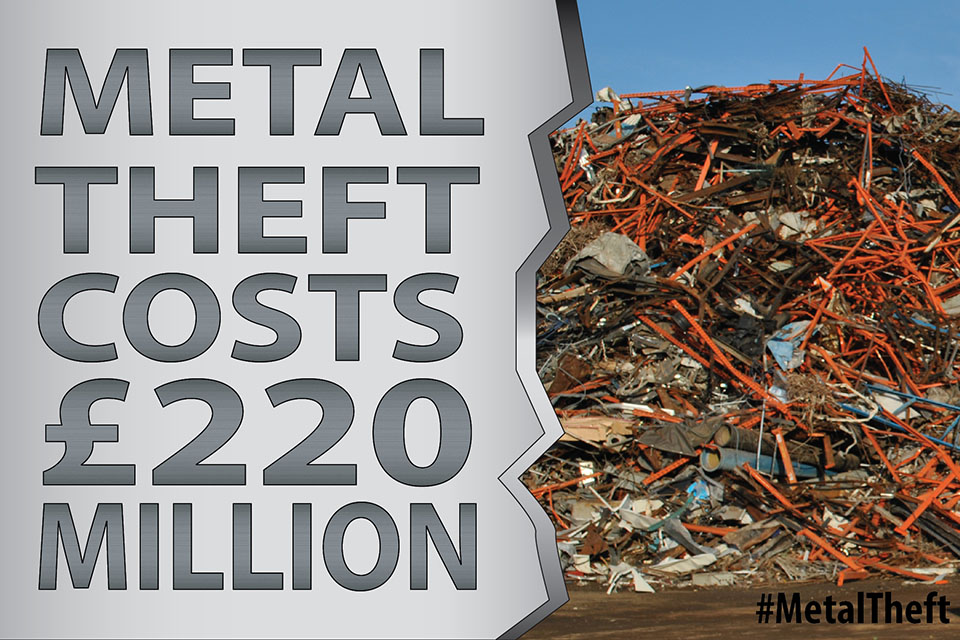 db52ffd5c08 Scrap metal laws to stop metal theft come into force - GOV.UK