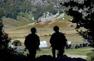 Royal Marines observe their target during Exercise Dragon Hammer in Albania [Picture: Leading Airman (Photographer) Jason Ballard, Crown copyright]