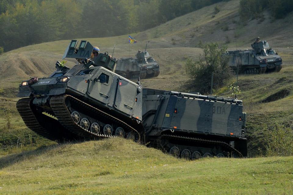 Royal Marines Viking amphibious landing vehicles