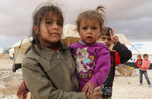 Syrian children in the Zaatari refugee camp, in northern Jordan. Picture: WFP/Jonathan Dumont