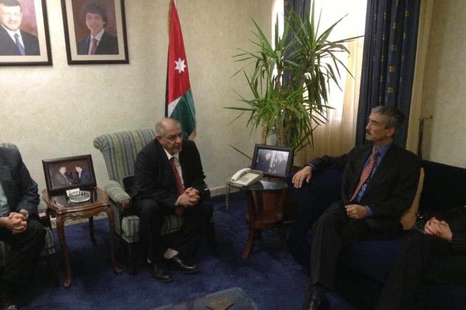 British Ambassador Peter Millett and President of the Hashemite University Prof. Kamal Bani-Hani