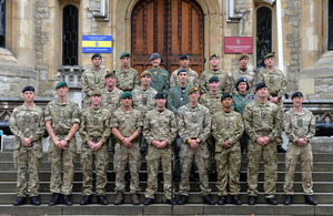 Some of the 117 military personnel who have been honoured with awards for gallantry and meritorious service [Picture: Corporal Steve Blake, Crown copyright]