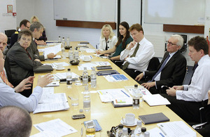 Danny Alexander in meeting with participants