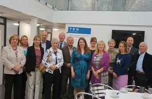 Jo Swinson visits Castledown Enterprise Centre, Wiltshire