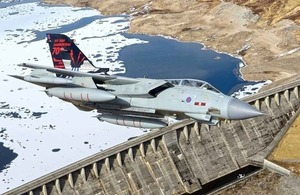 A 617 Squadron RAF Tornado GR4 flies over a dam [Picture: Copyright Jamie Hunter 2013]