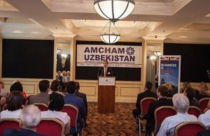 Her Majesty's Ambassador speaks at the Amcham in Tashkent