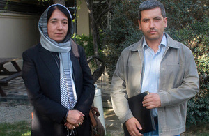 Dr Rokai Rauofi and Dr Anbis Akhgar, two of the ABIF grant recipients. Picture: DFID Afghanistan