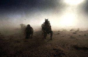 Royal Marines awaiting helicopter extraction in Helmand province (library image) [Picture: Petty Officer (Photographer) Hamish Burke, Crown copyright]