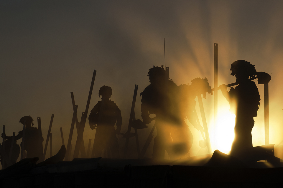 Best Professional Operational Image: 'Sunset Soldiers'