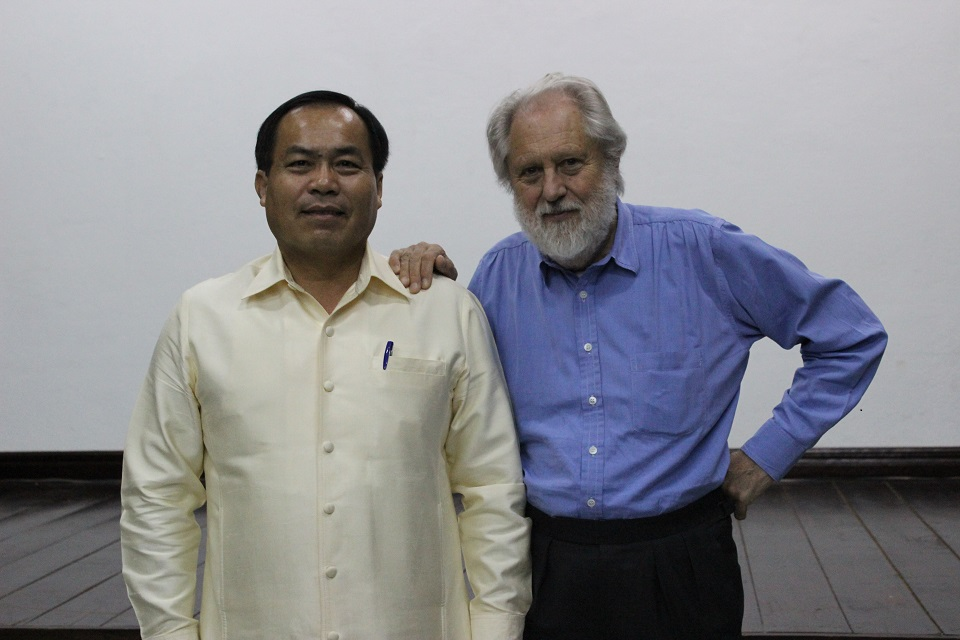 Lord Puttnam with Cinema Department Director