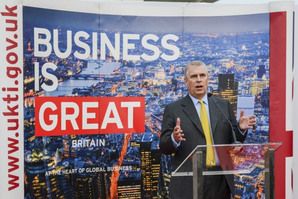 HRH Prince Andrew attended Business Reception at Senayan City