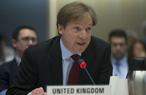 Mark Matthews, UK Deputy Permanent Representative
