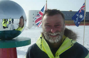 Warrant Officer Al Sylvester on his recent expedition to Antarctica