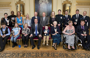 David Cameron with Pride of Britain Award winners 2013