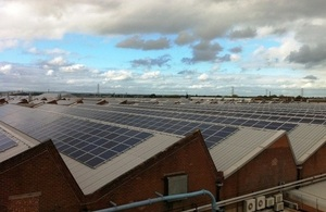 Bentley Motor's rooftop solar array.