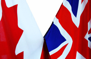Canada and UK flags