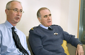 Permanent Secretary Sir Bill Jeffrey (left) and Chief of the Defence Staff, Air Chief Marshal Sir Jock Stirrup